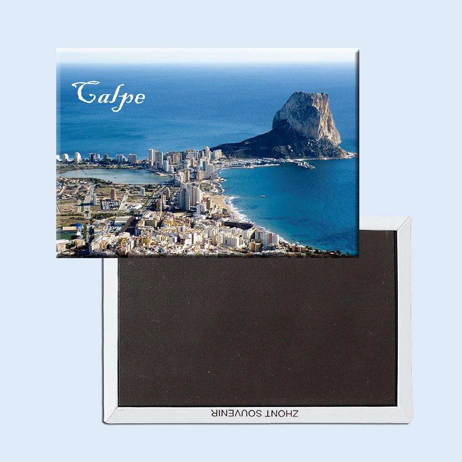 Calp, España, por el mar Mediterráneo imanes de nevera 21672 recuerdo del...