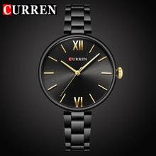 CURREN Top marque de luxe femmes montre Quartz femme horloge décontracté mode bracelet en acier inoxydable dames cadeau relogio feminino nouveau