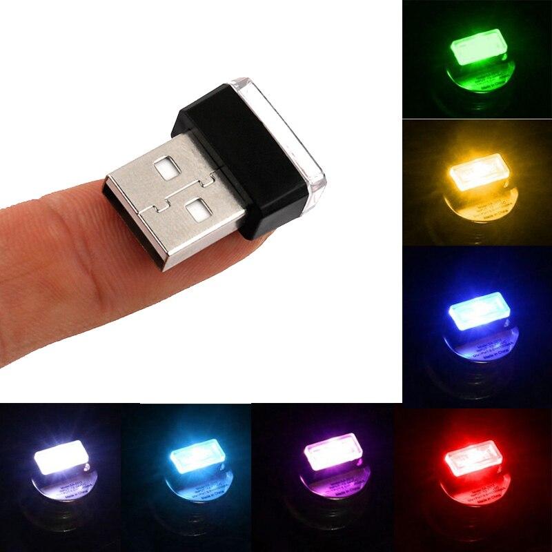 Mini USB LED Interior del coche luz decorativa para Nissan Qashqai J11 J10 Juke Tiida Almera X rastro t32 nota Pathfinder Sentra Teana