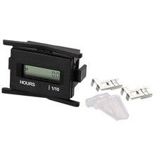 Livraison gratuite Compteur horaire LCD   Moteur à moteur électrique, moteur à moteur Machine, mètre numérique