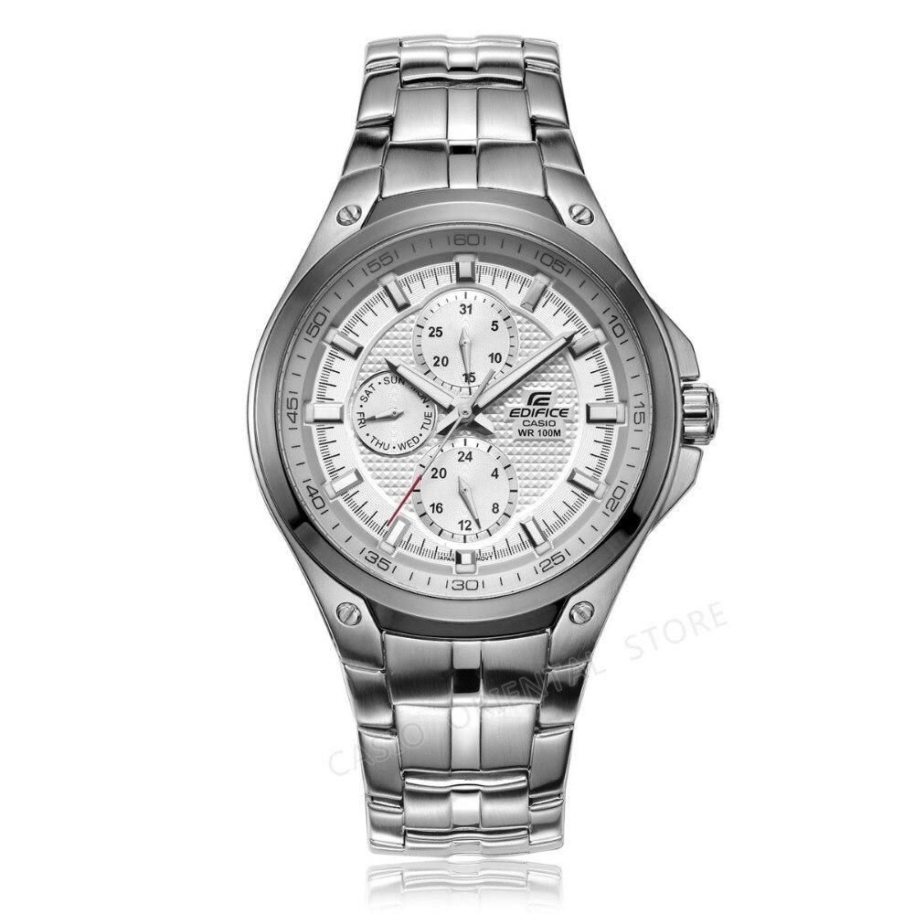 Casio Edifice часы Мужские Подарочные наручные водонепроницаемые дизайнерские модные кварцевые мужские часы EF-326 полностью стальные водонепроницаемые часы