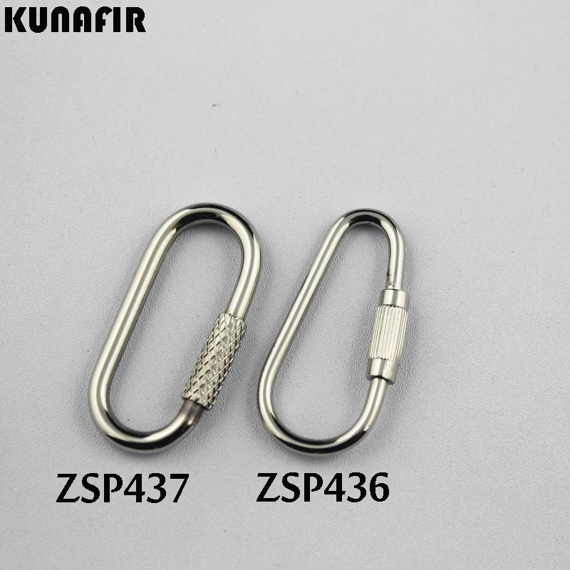 Piezas de accesorios de joyería de moda gancho de cadena de acero inoxidable 20 piezas ZSP436, ZSP437