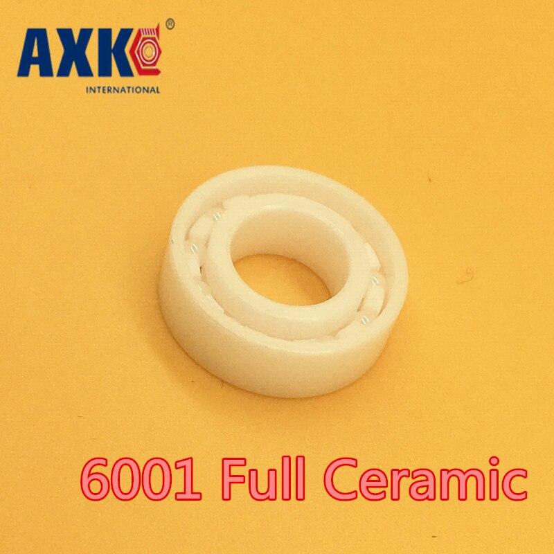 2019 nuevo rodamiento de cerámica Real Axk 6001 (1 pieza) 12*28*8 Mm Material Zro2 6001ce todos los Rodamientos de bolas de Zirconia
