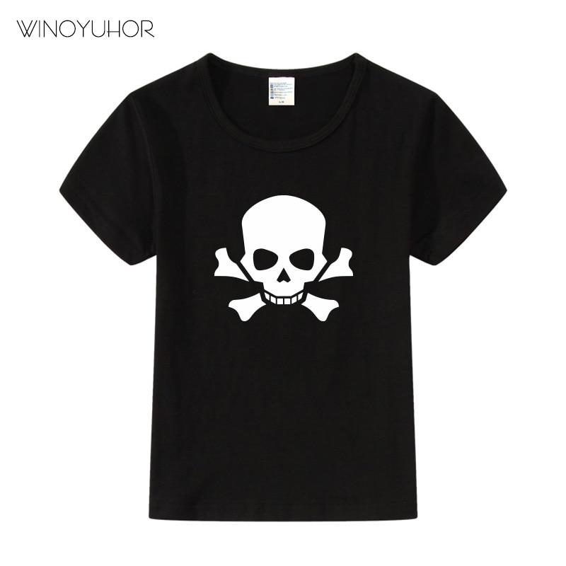Skull Hip Hop Skeleton Kids T-Shirt Punk Shirts Children Boys Girls Funny Teens T Summer New Clothes