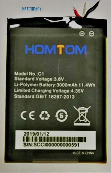 100% Оригинальная батарея HOMTOM C2/C1 3000 мАч для Homtom C2/C1 батарея Аккумуляторы для сотовых телефонов