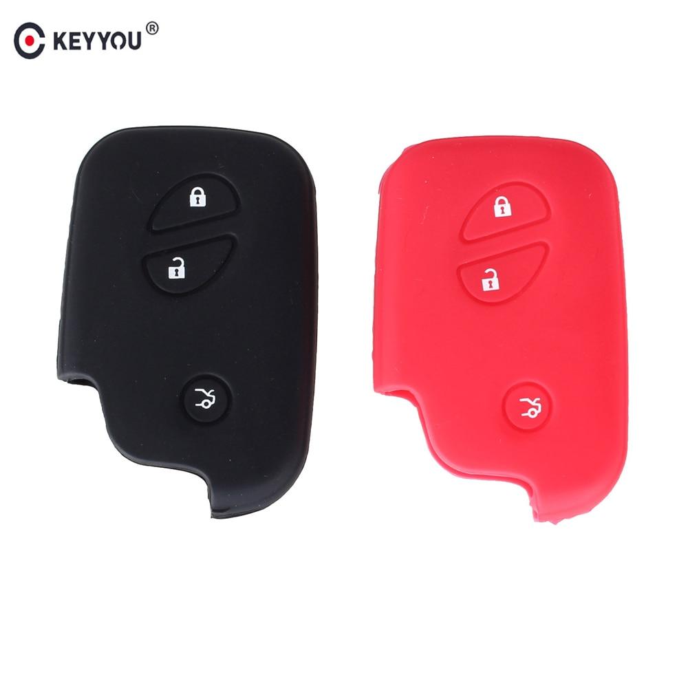 KEYYOU-funda de silicona para llave del coche, cubierta para llaves para Lexus...