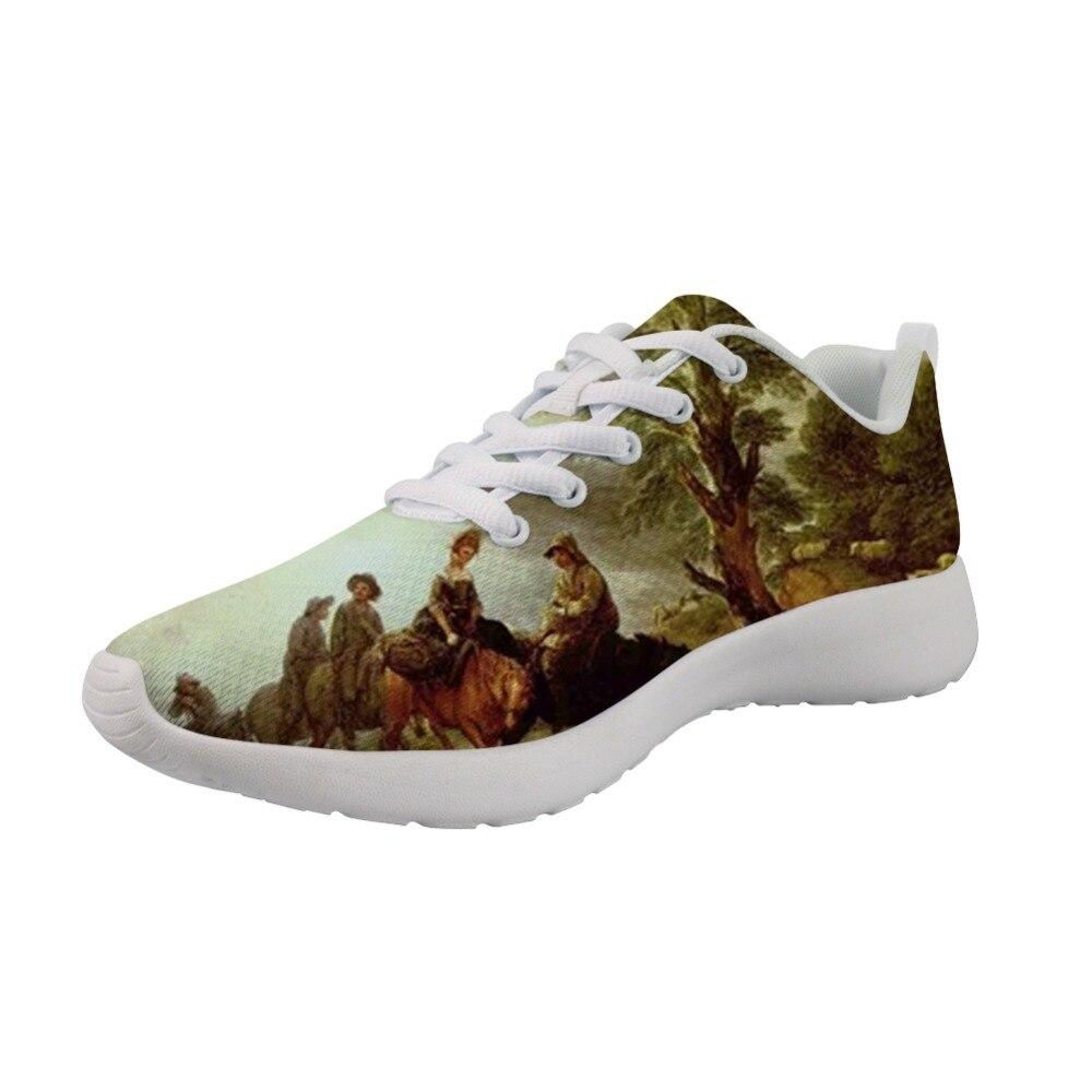 Zapatillas clásicas nuevas exclusivas, zapatos informales para hombre, pintura de primavera, estampado artístico, fondo blanco, cómodo, transpirable para hombre