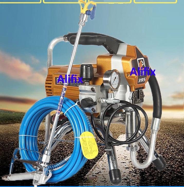 Высоко устройство для безвоздушного распыления под давлением, профессиональный безвоздушный распылитель краски 395 Пистолеты-распылители      АлиЭкспресс