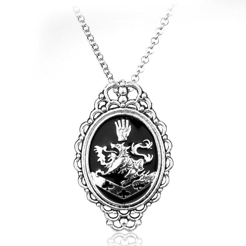 Dongsheng mode bijoux film Vampire crépuscule Rosalie Cullen Lion collier ras du cou pendentif collier pour femmes hommes cadeau-30