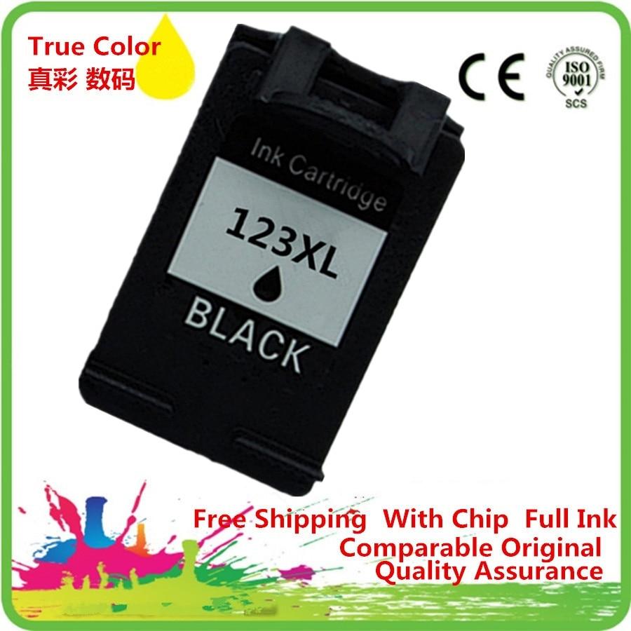 Black Ink Cartridges Remanufactured For 123 XL 123XL HP123 HP123XL Deskjet 1110 1111 1112 2130 2132 3630 3632 Inkjet Printer