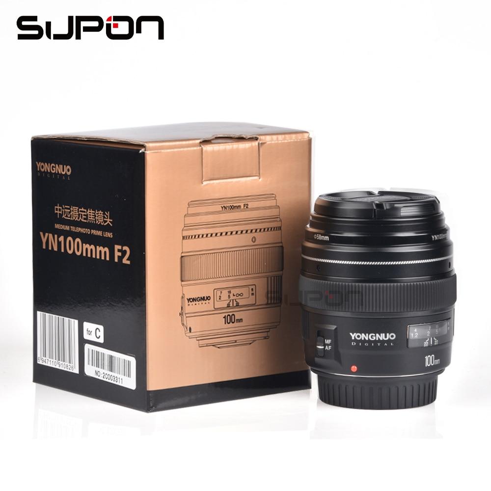 NOVA Yongnuo YN100mm F2 Médio Telefoto Prime Lens para a Canon EOS Rebel Câmera AF MF