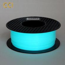 Noctilucous pla 3d drucker filament noctiucent 1,75mm druck material noctilucous blau grün lila 1kg glow in the dark