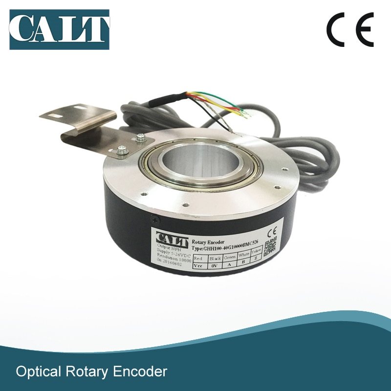 supply of ce9 1024 5l ce9 1024 0l beijing super synchronous spindle servo encoder Factory Supply Price 1024 3600 5000 PPR Pulse 100mm Outer Rotary Encoder Hollow Shaft 40mm NPN Output Incremental Encoder GHH100