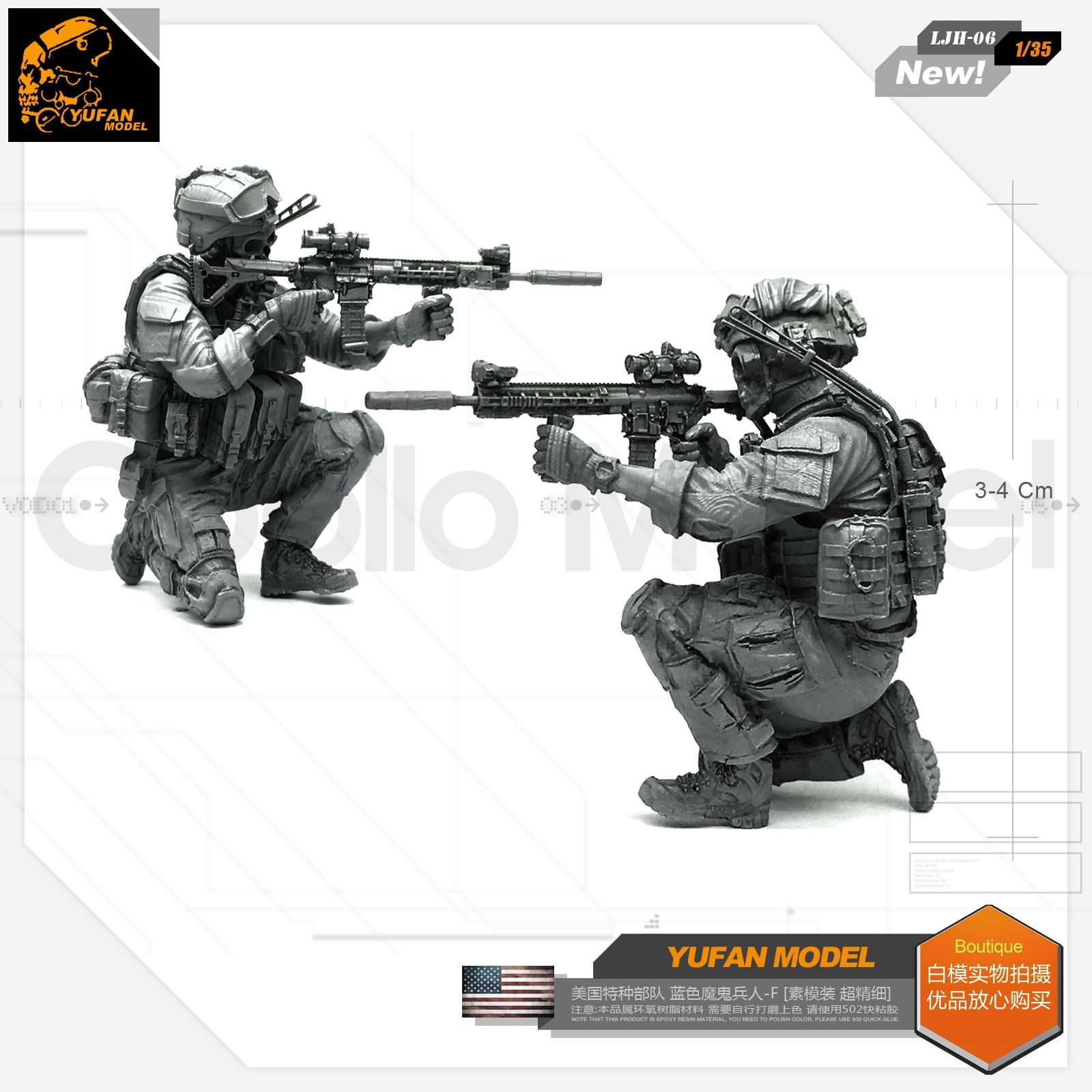 1/35 Fuerzas Especiales estadounidenses diablo azul-F resina modelo LJH-06
