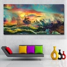 Peintures de paysage abstraites modernes colorées   Affiches de peinture sur toile, images dart murales pour décoration de la maison, salon
