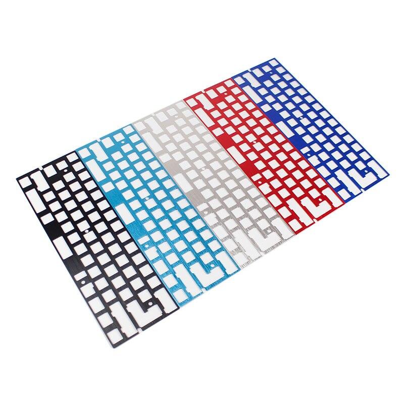 Механическая клавиатура с ЧПУ, 60 анод, алюминиевая пластина для определения местоположения, поддержка ISO ANSI для печатной платы GH60, 60% клавиатура «сделай сам»