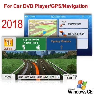 Tarjeta Micro SD de 8GB GPS para coche de navegación mapa 2018 software para Australia Nueva Zelanda y Medio Oriente en el sudeste de Asia Israel Filipinas