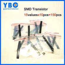 15valuesx10pcs = 150 pièces S9013 SS8050 SS8550 BAV99 2N7002 BAV70 TL431 BAT54C MMBT3904 Triode Transistor Trousse