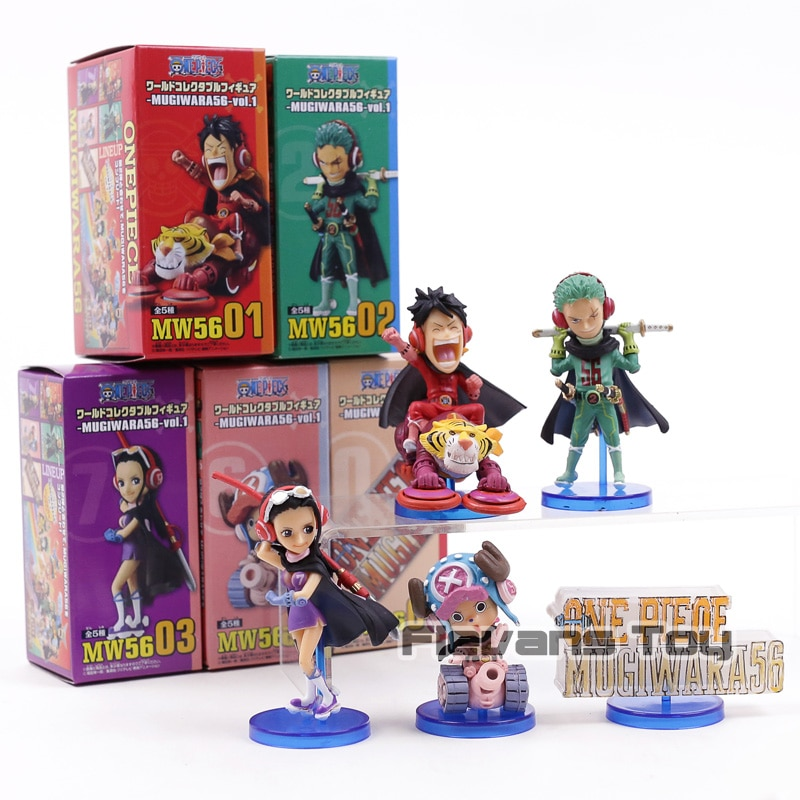 Anime One Piece Banpresto WCF Mugiwara56 vol.1 Luffy Zoro Robin Chopper PVC Figures Toys 5pcs/set