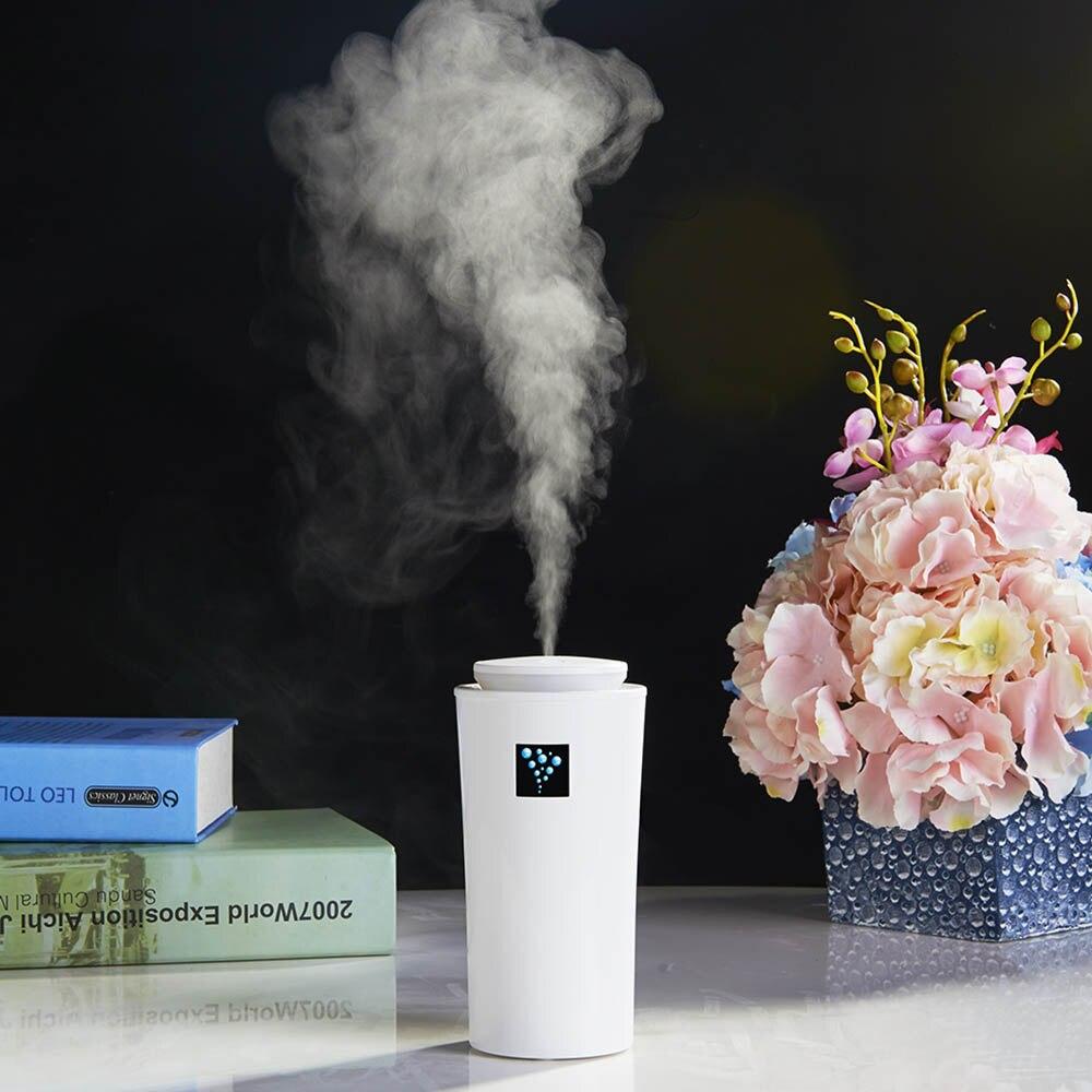 Humidificador ultrasónico del coche del difusor del USB 260 ML con la niebla de la luz nocturna del LED para la oficina del hogar 7,5*16 cm