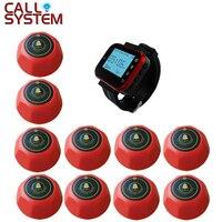 433.92Mhz 1 wrist watch hand receiver 10 bell buzzer Restaurant waiter call vibrator wireless system