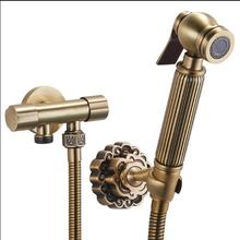 Antique Bathroom Bidet faucet toilet bidet shower set Portable bidet spray with brass shower holder and 1.5m hose handheld bidet
