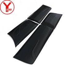 YCSUNZ-revêtement de corps noir   Garniture latérale de porte, pour Toyota Fortuner AN160 HILUX SW4 2015 2016 2017, accessoires de déflecteur
