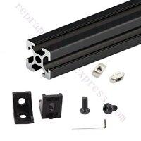 Expedited ship One Set Black HyperCube 3D Printer Aluminum Extrusion Profiles - 200mm Cubic Build Volume 3D Printer Frame Kit