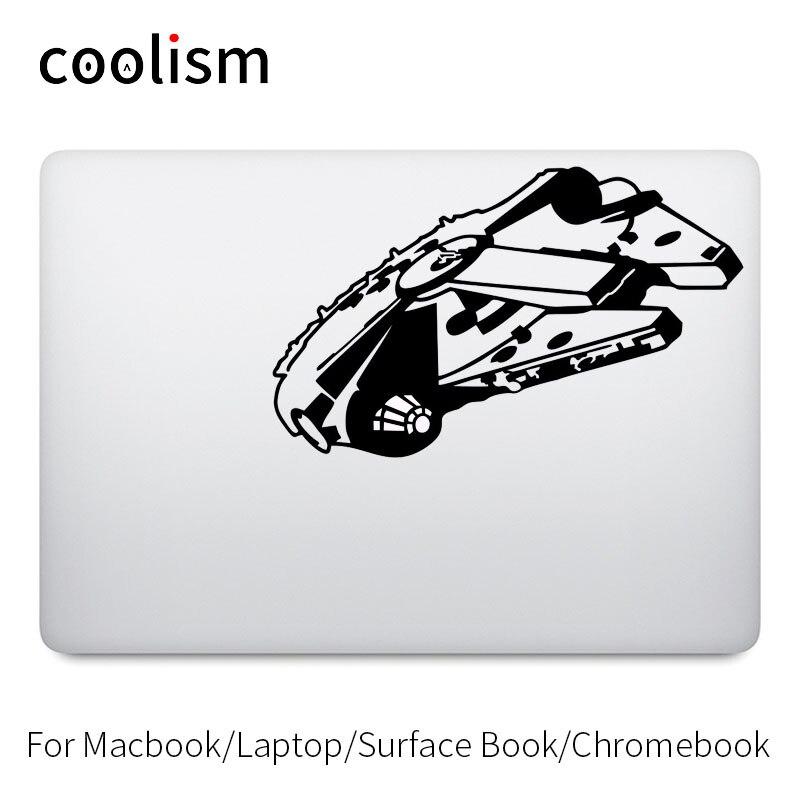 Glwoing Millenium Falcon Laptop Decal for Apple MacBook Pro Air Retina 11 12 13 15 inch Vinyl Star War Mac Notebook Skin Sticker