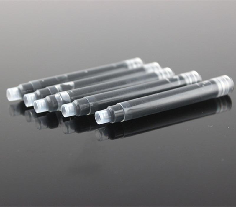 15 шт./упак. черная универсальная чернильная ручка, чернильные картриджи, ручка для заправки офисных канцелярских принадлежностей