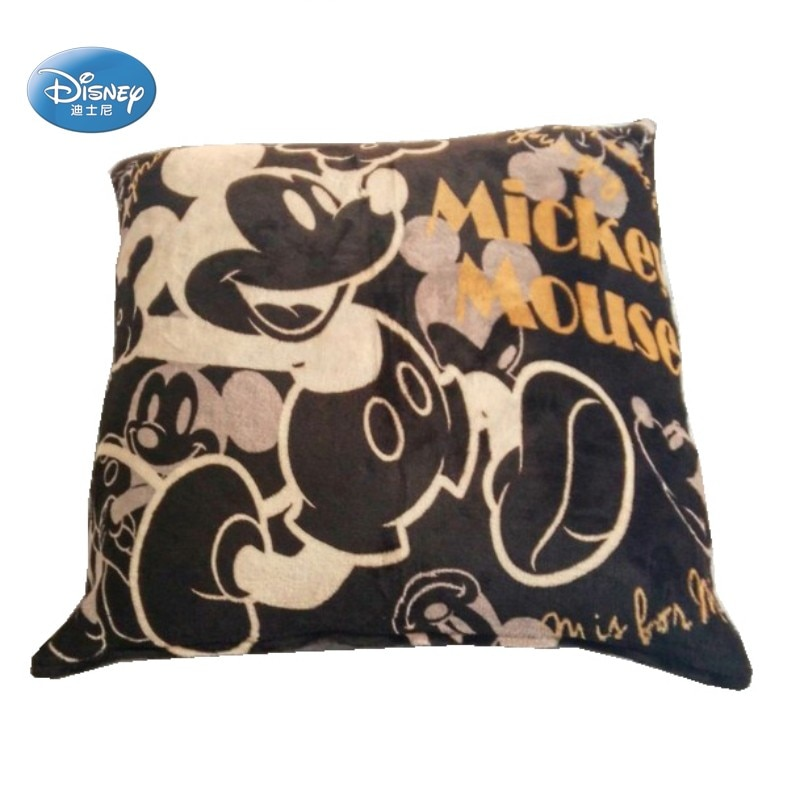 Disney Brown, супер мягкая фланелевая наволочка с Микки Маусом, наволочки, 55x59 см, для детей, для взрослых, домашний декор, 1 шт., без наполнения