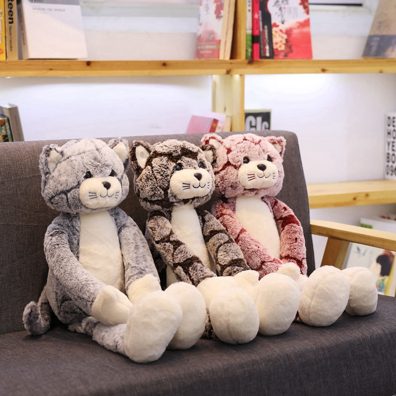 1 шт. 50/70/90 см милые кошки, плюшевые игрушки, мягкие игрушки, милые пушистые кошки, куклы, мягкие детские игрушки, подарок на день рождения, рож...