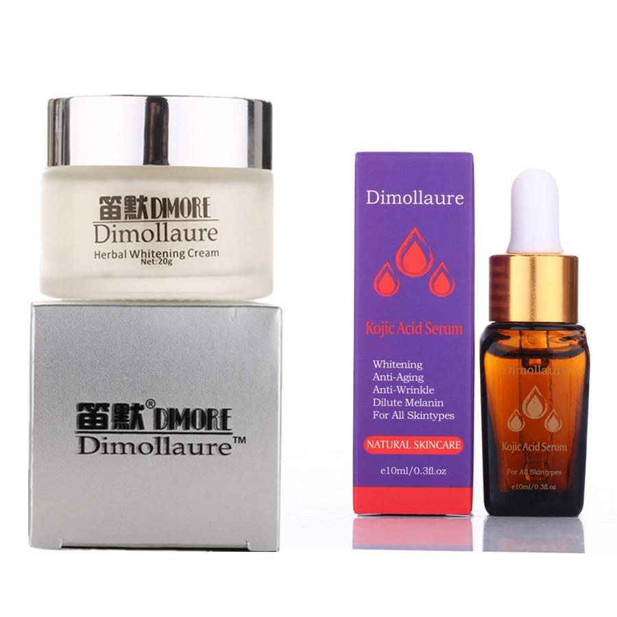 Dimollaure creme branqueador, efeito forte + ácido kojic removedor de sardas melasma pigmento melanina queimaduras de sol cicatrizes de acne