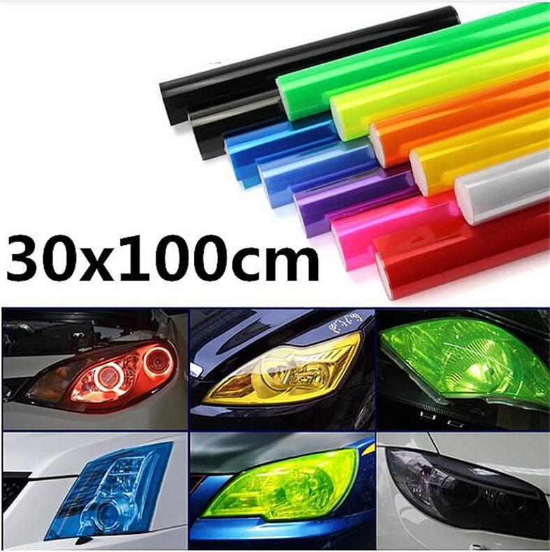 Autocollant de Film de vinyle de lampe de phare de voiture de 30x100 cm pour Mitsubishi ASX efforce Expo Galant Grandis Lancer Mirage Montero
