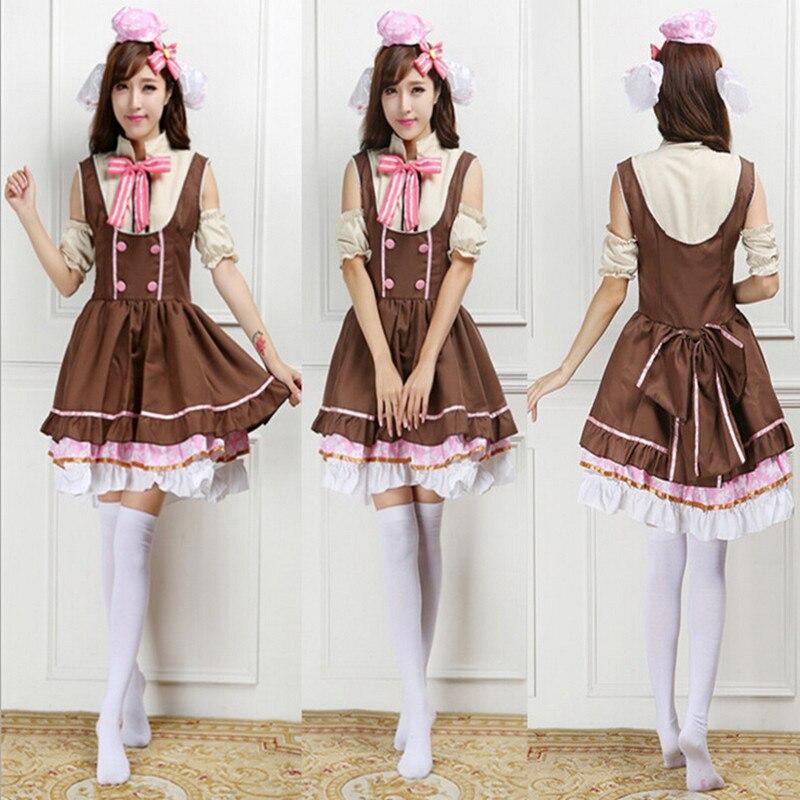 2018 anime Love Live Nico Yazawa linda princesa Cosplay disfraces marrón vestidos dama de Halloween uniformes trajes de fiesta PS010