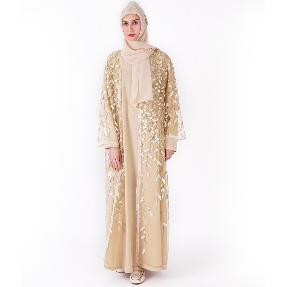 Vestido musulmán Abaya ropa islámica para mujeres Malasia Jilbab Djellaba túnica musulmana turco Baju Kimono Kaftan túnica L203