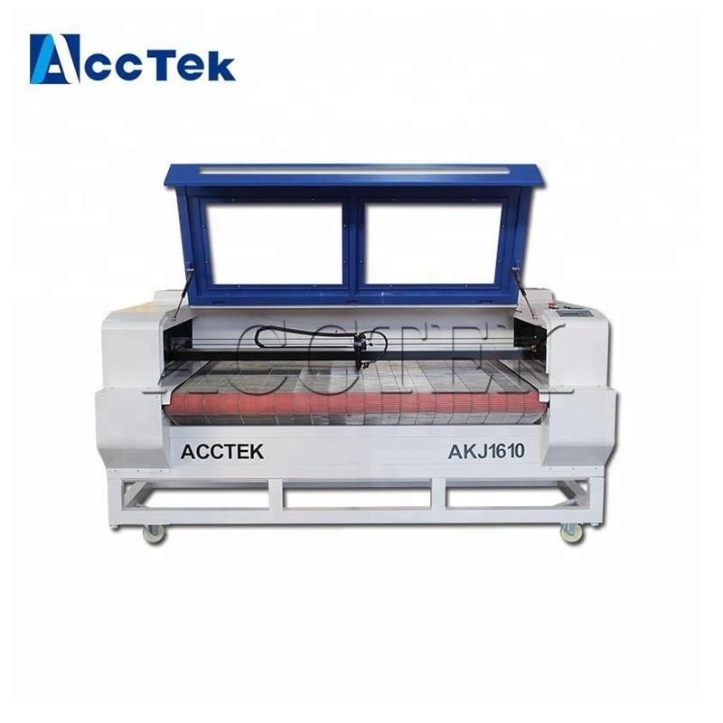Venta caliente sistema de alimentación automática CNC CO2 de tela máquina de corte por láser para madera de acrílico, etc.