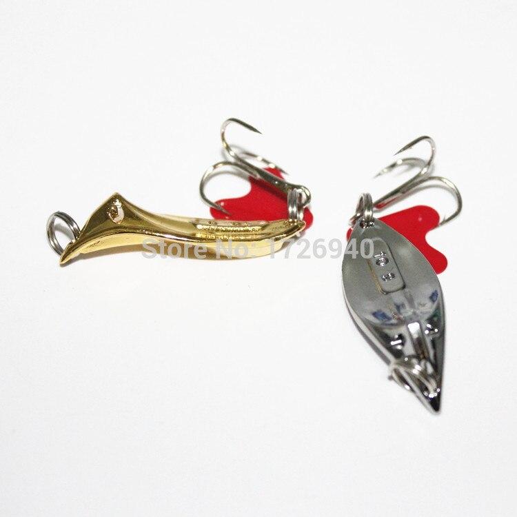 KKWEZVA vendiendo 5 piezas un paquete máquina de biselado de achaflanado paillette Señuelos de Pesca cebo Stosh adrenalina alta gancho 078