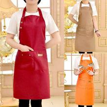 US Women Men Waterproof Kitchen Apron Chef Butcher BBQ Cooking Baking Catering