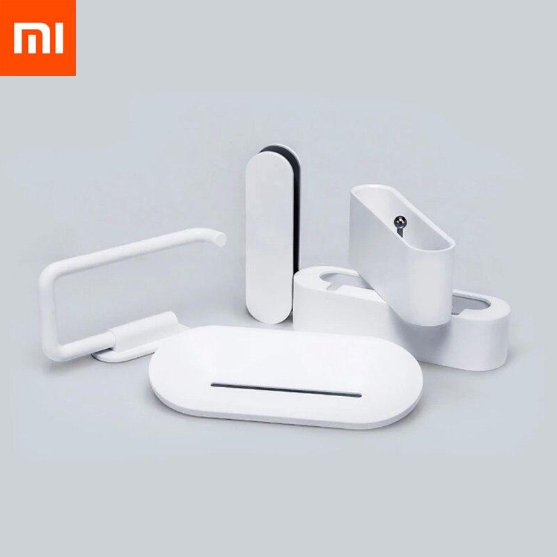 5 uds. Xiaomi Mijia Smart herramientas para el hogar HL jabonera gancho caja de almacenamiento y soporte de teléfono para baño ducha herramientas