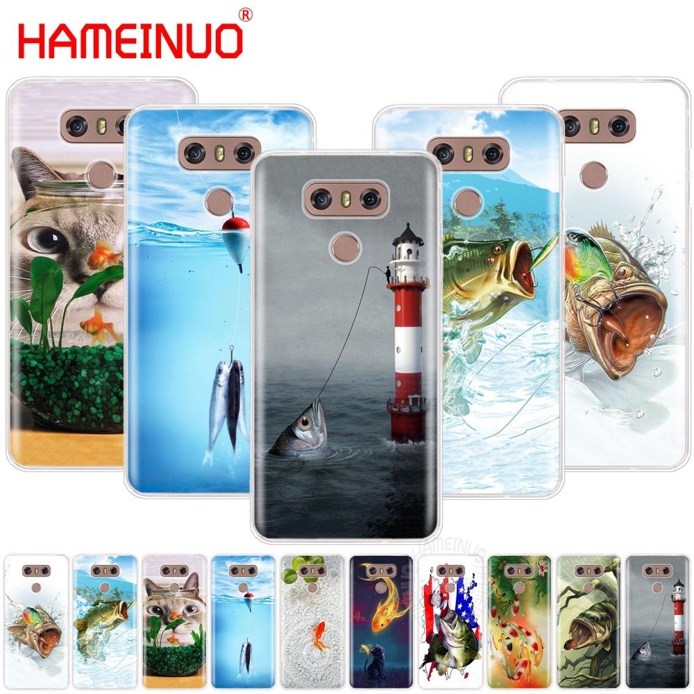 HAMEINUO cute gold fish fishman case phone cover for LG Q6 G6 MINI G5 K10 M250N 2017 2016 X POWER 2 V20 V30