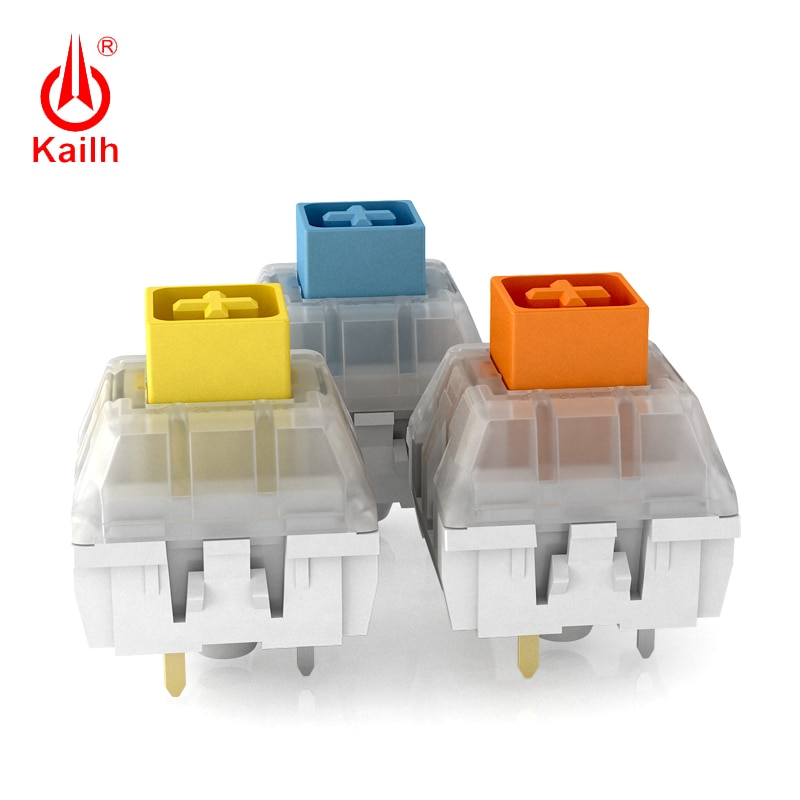 Купить с кэшбэком Kailh Mechanical Keyboard BOX heavy dark yellow/blue/Burnt Orange, Waterproof and dustproof Switches, 80 million Cycles Life