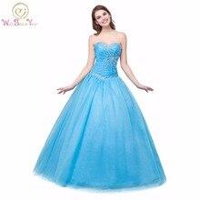 100% echt Bilder Prinzessin Quinceanera Kleider Ballkleider Coral Grün Blau Mädchen Kleider Kristall Lace-up Bodenlangen Prom kleider