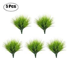 Gazon décoratif artificiel 5 pièces/ensemble   Fausse plante décorative pliable, fausse plante pour décor de maison bureau