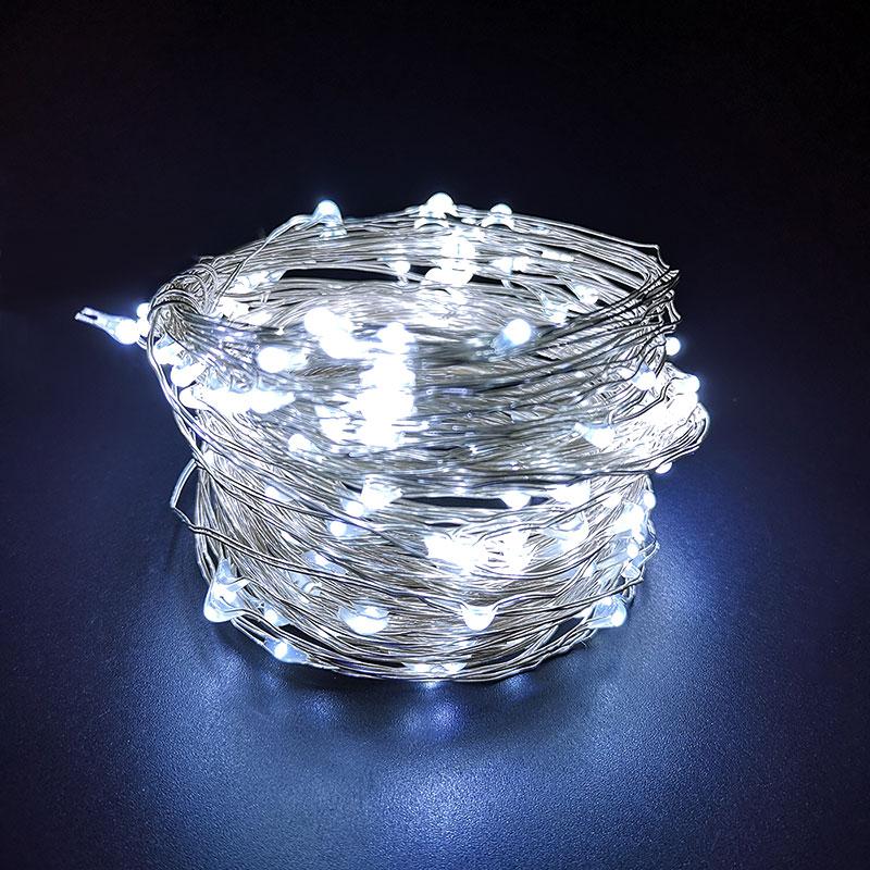 Tira de luces festivas LED USB de 2 M, 3 M, 5 M, 10 M, Micro luz impermeable para decoración del hogar, lámpara de Navidad, artesanía de cristal para bodas en interiores
