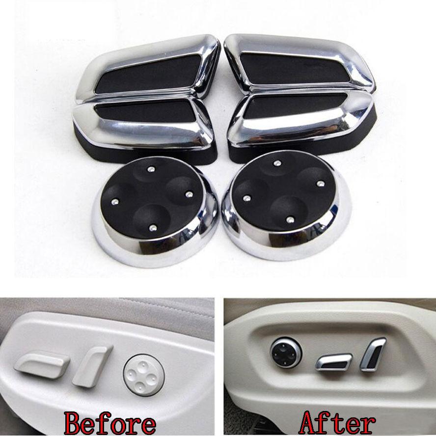 6x puerta ajuste de asiento interruptor de mando de Control de embellecedor de cubierta de botón de AudiA5 Q5 A4 B8 A3 A6 Q3 CC Tiguan accesorios de estilo de coche