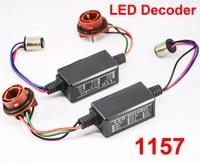 2pcs 1157 ba15d led bulbs power 8w error free canbus canceler adapter decoder fog turn brake signal anti hyper flashing blinking