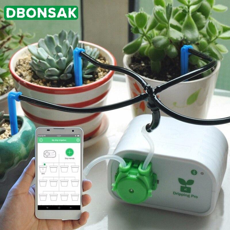 جهاز ذكي للتحكم بالهاتف المحمول يعمل على ري النباتات العصارية أداة الري بالتنقيط نظام توقيت ضخ المياه