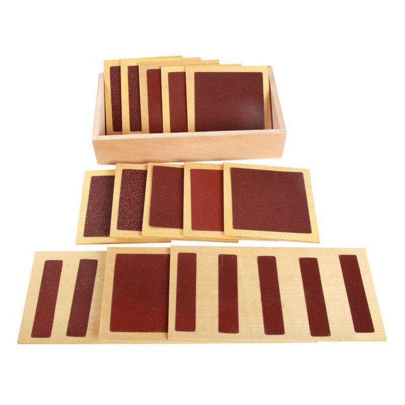 Монтессори сенсорные материалы, шероховатые гладкие сенсорные панели, Развивающие деревянные игрушки для малышей, Juguetes Монтессори ME1644H