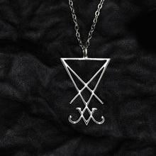 12 pièces Sigil de Lucifer pendentif symbole satanique bijoux sceau de Satan collier mystérieux collier bijoux TD169